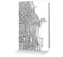 Chicago City center black and white Greeting Card