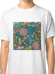 Whimsical flowers Classic T-Shirt
