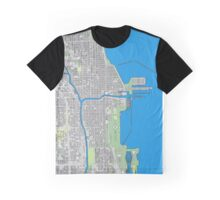 Chicago city center colorful Graphic T-Shirt