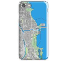 Chicago city center colorful iPhone Case/Skin