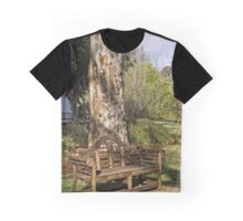 Bench at Lake Burley Griffin Graphic T-Shirt
