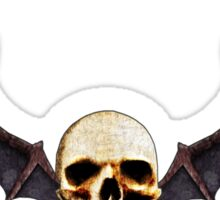 Skull With Wings Sticker