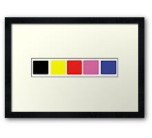 Power Rangers In Space Suit Chest Framed Print