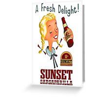 Fallout - Sunset Sarsaparilla Poster Greeting Card