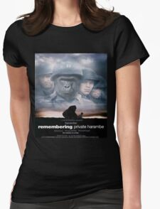Saving Private Harambe  Womens Fitted T-Shirt