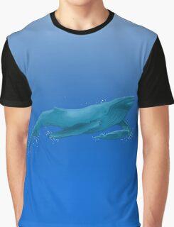 Big Blue Whale Graphic T-Shirt