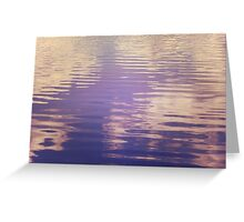 Water Relecting  the Sky Greeting Card