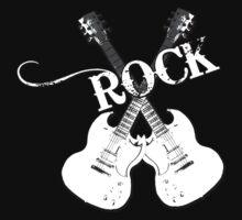 Guitar Rock Shirt by JayBakkerArt