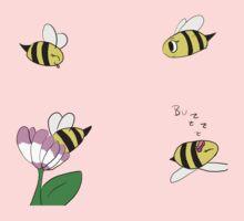 Cute Little Bees One Piece - Short Sleeve