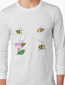 Cute Little Bees Long Sleeve T-Shirt
