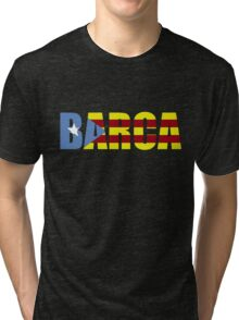 Barca FC Barcelona Flag of Catalonia Football T-Shirts and Gifts  Tri-blend T-Shirt