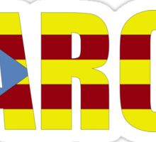 Barca FC Barcelona Flag of Catalonia Football T-Shirts and Gifts  Sticker