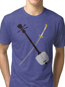 If You Must Blink, Do It Now. (Kubo and the Two Strings). Tri-blend T-Shirt