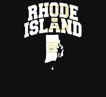 Rhode Island Flag in Rhode Island Map Unisex T-Shirt