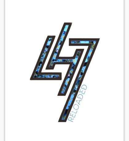 """Luhan """"Reloaded"""" - Flower Logo Design Sticker"""