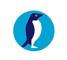 Adelie Penguin Circle Retro Photographic Print
