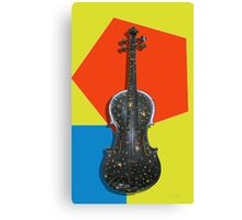 Funky Violin , old hand painted violin design Canvas Print