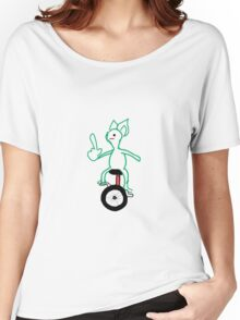 Unicycle Doggo Women's Relaxed Fit T-Shirt
