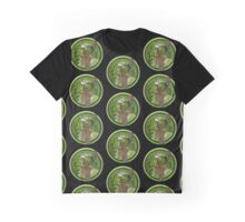 Nouveau Woman In Green Headdress and Jewels Graphic T-Shirt