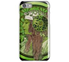 Nouveau Woman In Green Headdress and Jewels iPhone Case/Skin