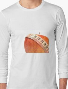 tape measure wrapped around an apple  Long Sleeve T-Shirt