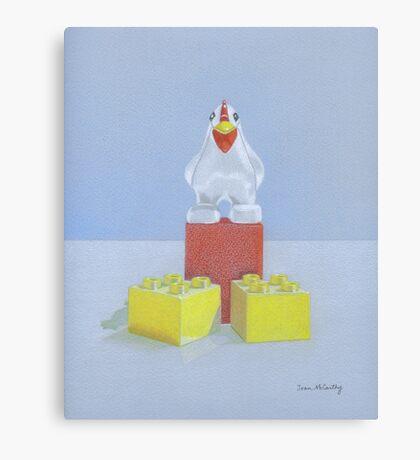 Duplo Chicken (red/blue) Canvas Print