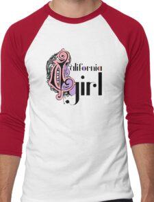 Cool Stylish Girly Fashion Cute California Girl Men's Baseball ¾ T-Shirt