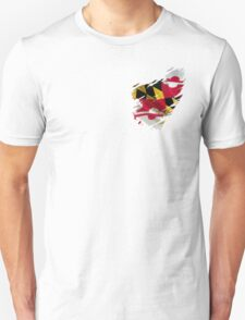 Maryland Flag Tearaway Unisex T-Shirt