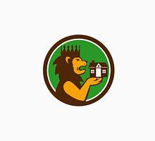 King Lion Holding House Circle Retro Unisex T-Shirt