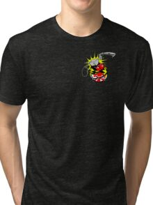 Maryland Flag Grenade Tri-blend T-Shirt
