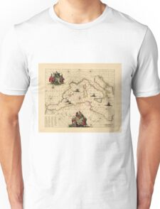 Map Of The Mediterranean Sea 1681 Unisex T-Shirt