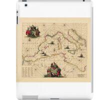Map Of The Mediterranean Sea 1681 iPad Case/Skin