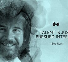 Bob Ross Quote Poster by geniusbios