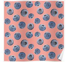 Blueberry pattern Poster