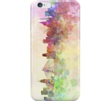 Sao Paulo skyline in watercolor background iPhone Case/Skin