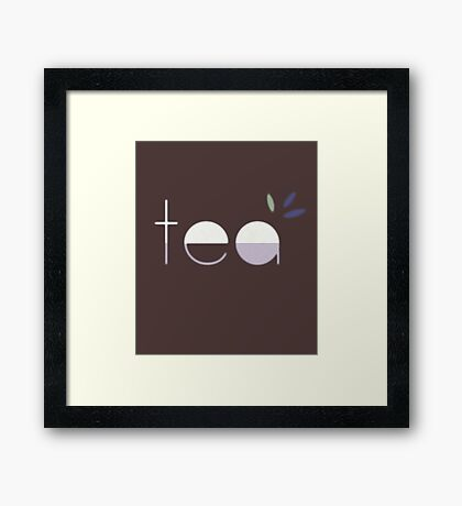 Te Framed Print