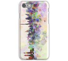 Dubai skyline in watercolor background iPhone Case/Skin
