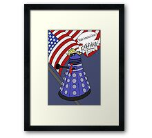 Dalek Trump Framed Print