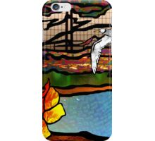 Doodlage 01 - As the seagull flies iPhone Case/Skin