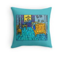 Arles Surf Club Throw Pillow