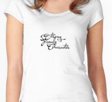 Strong female character Women's Fitted Scoop T-Shirt