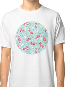 Fox and Bunny Pattern Classic T-Shirt