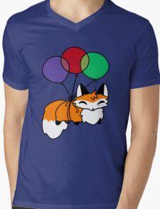 Fluffy Balloon Fox Mens V-Neck T-Shirt