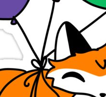 Fluffy Balloon Fox Sticker