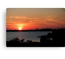 Swirling Sunset Canvas Print