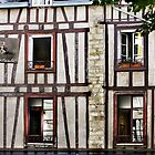 Windows - Vannes Appartment Building with Collambages by Buckwhite