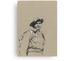 Charles Upham VC and Bar Canvas Print