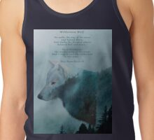 Wilderness Wolf and Poem Tank Top