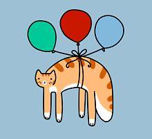 Balloon Long Tabby Cat Unisex T-Shirt