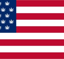 Marijuana American Flag Sticker